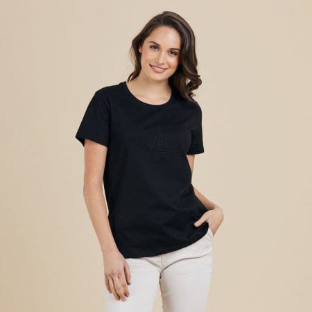 Threadz Jersey Short Sleeved Tee Black