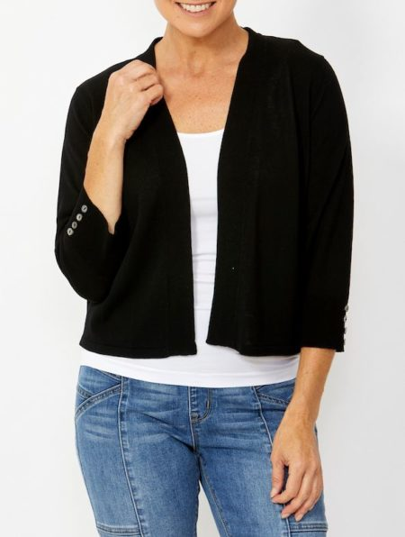 Ping Pong 3/4 Sleeve Crop Cardigan