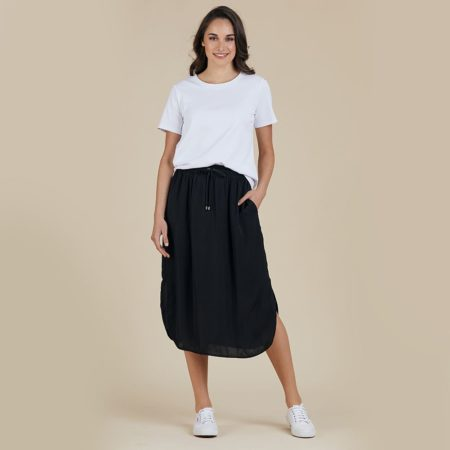 Threadz Basic Luxe Skirt Black