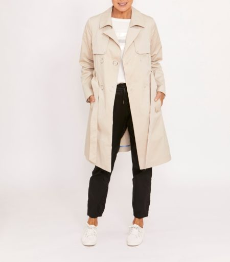 Ping Pong Everyday Trench Coat Sand