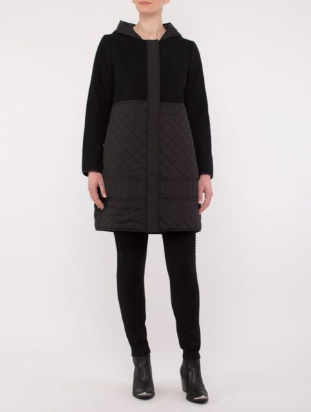 Ping Pong Spliced Coat Black