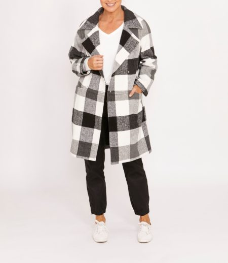 Ping Pong  Gingham Check Coat