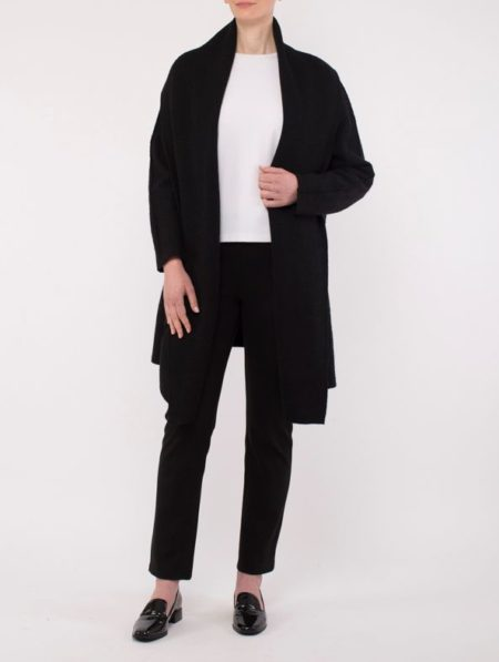 Ping Pong Shawl Collar Coat Black